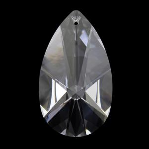 Mandorla Spectra Swarovski taglio a stella da 63 mm, color cristallo.