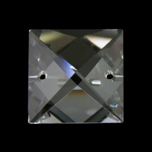 Quadruccio 18 mm sfaccettato due fori - Swarovski Spectra.