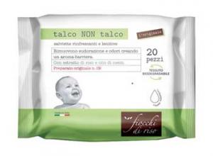 TALCO NON TALCO SALVIETTE FIOCCHI DI RISO