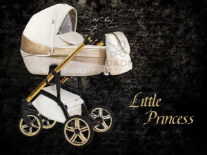 Baby Atelier - Little Princess - telaio nero - colore panna