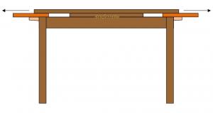 Zweifarbiger rechteckiger Tisch cm 100 x 70 - auszierbar