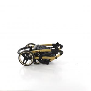 Junama - GLOW - ecopelle con stampa oro/base cangiante dal nero all'oro - colore 05