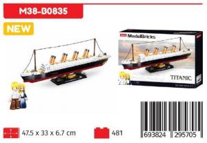 SLUBAN MODELBRICK TITANIC 1:700 481PCS M38-B0835 NICE