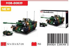 SLUBAN MODELBRICK LEOPORD MAIN BATLE TANK 2IN1 M38-B0839 NICE