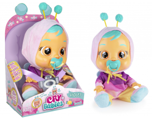 BAMBOLA CRY BABIES VIOLET 81826 IMC TOYS