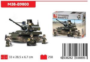 SLUBAN CARRO ARMATO TIGER CON MOTO 258 PCS M38-B9800 NICE