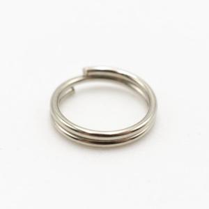 Anello brisè nickelato Ø08 mm spessore 0,8 mm finitura nikel lucido