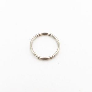 Anello brisè nickelato Ø10 mm spessore 0,8 mm finitura nikel lucido
