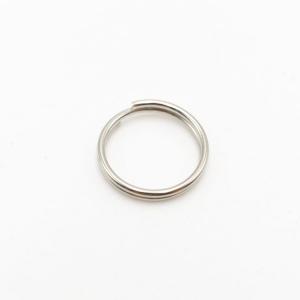 Anello brisè nickelato Ø12 mm spessore 1,0 mm finitura nikel lucido
