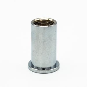 Bicchierino di fissaggio a soffitto nickel lucido per bloccafilo M13x1 - foro Ø6  + uscita laterale