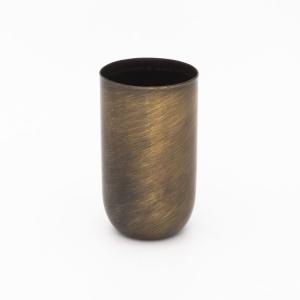 Bicchierino metallico brunito lucido E14 Ø30 mm foro 10 mm
