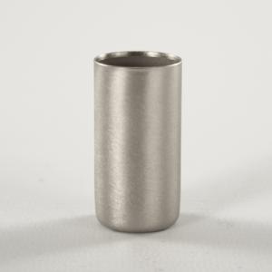 Bicchierino metallico G9 Ø21 x h40 finitura nickel spazzolato