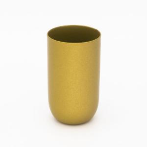 Bicchierino metallico oro laccato E14 Ø30 mm foro 10 mm