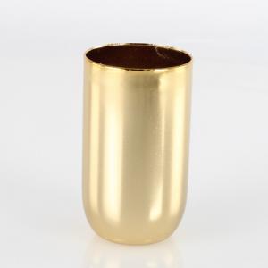 Bicchierino metallico portalampada E14 Ø3 x h5,5 cm finitura galvanica oro caldo lucido.