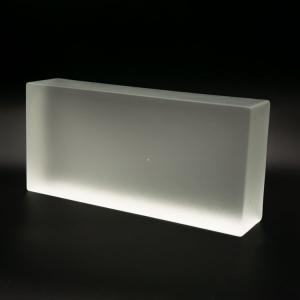 Blocco mattone in vetro di Murano cristallo acidato