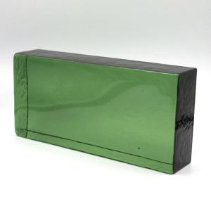 Blocco mattone in vetro di Murano verde trasparente