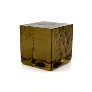 Blocco mattone sanpietrino marrone trasparente vetro Murano
