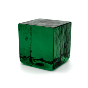 Blocco mattone sanpietrino verde trasparente vetro Murano