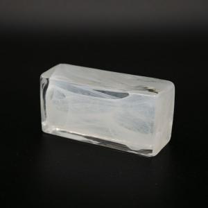 Blocco mini mattone anima bianca in cristallo trasparente vetro Murano
