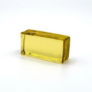 Blocco mini mattone giallo trasparente vetro Murano