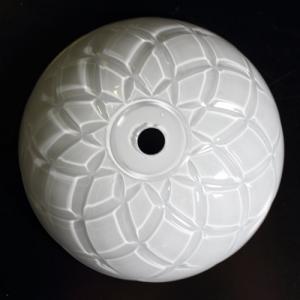 Bobeche lampadari Vetro veneziano color bianco, Ø 12,5 cm, foro Ø 12 mm, NO fori laterali.