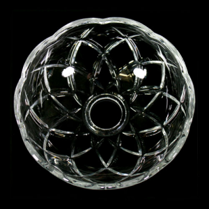 Bobeche lampadari Vetro veneziano Ø 12,5 cm, foro Ø 24 mm, NO fori laterali.