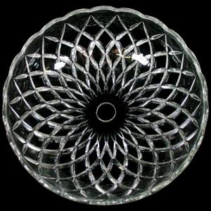 Bobeche lampadari Vetro veneziano Ø 25 cm, foro Ø24 mm, NO fori laterali