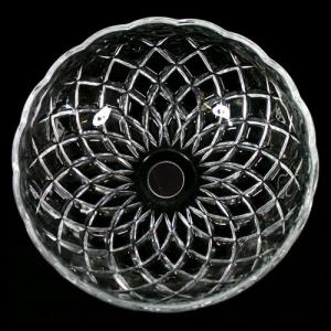 Bobeche lampadari vetro veneziano Ø20 cm foro Ø20 mm NO fori laterali.