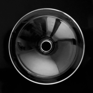 Bobeche piattino lampadari vintage in vetro cristallo Ø90 mm, foro Ø10 mm.