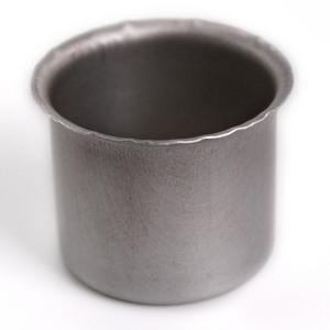 Bossola in alluminio #10 con foro - Ø32,5 mm  per ingessatura lampadari vetro Murano