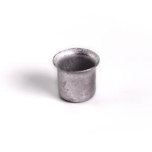 Bossola in alluminio #4 Ø18,5 mm senza foro per ingessatura lampadari vetro Murano