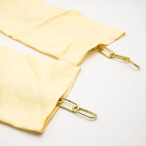 Calza tessuto color panna tubolare per catena lampadario L140cm