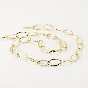 Catena metallica oro maglia gotica oro 2x10x25 mm per lampadari