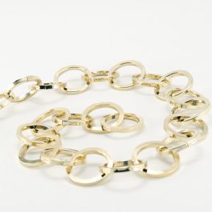 Catena metallica oro maglia tonda sezione quadrata 4,9x35 mm per lampadari