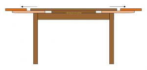 Mesa rectangular extensible 100 x 70 cm - bicolor