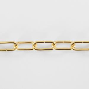 Catena per lampadari oro 12 anelli maglia genovese Ø5 mm maglia lunga DIN
