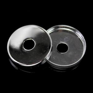 Centratubo cromo a dischetto Ø 25 mm con foro Ø 10 mm