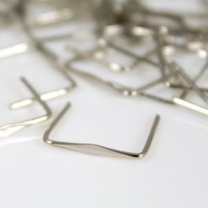 Clip 11 mm liscia nickel per agganci cristalli con gambo 13