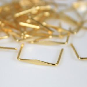 Clip 11 mm liscia ottone brillante per agganci cristalli con gambo 13 mm
