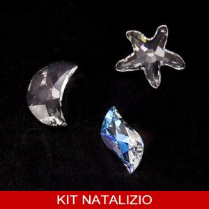 Confezione risparmio: 3 preziosi Swarovski originali Stella Marina, Luna e Swing per addobbi natalizi