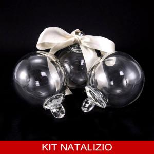 Confezione risparmio: 6 pz palla segnaposto liscia in cristallo di Boemia diametro 8 cm
