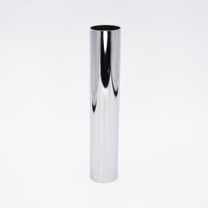 Copri porta-lampada L160 Ø30 E14 cromo lucido galvanico