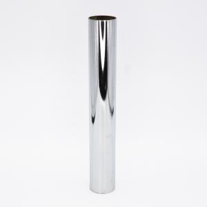 Copri porta-lampada L200 Ø30 E14 cromo lucido galvanico