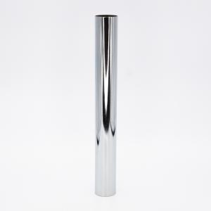 Copri porta-lampada L250 Ø30 E14 cromo lucido galvanico
