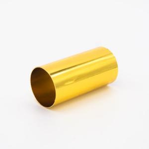 Copri porta-lampada L60 Ø30 E14 oro caldo lucido galvanico