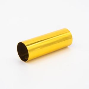 Copri porta-lampada L80 Ø30 E14 oro lucido galvanico