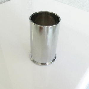 Copri portalampada ghiera E14 ottone cromo spazzolato Ø35 x h55 mm con zoccolo