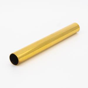 Copritubo L140 mm oro caldo lucido Ø16 spessore 1 mm