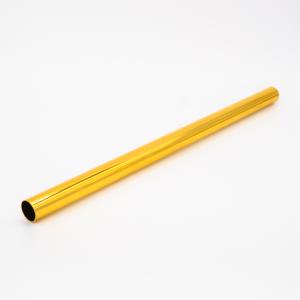 Copritubo L300 mm oro caldo lucido Ø16 spessore 1 mm