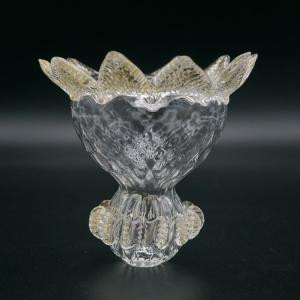 Corona ricambio 13x13 cm per lampadario vetro Murano con morrisa colore cristallo e oro misura MC